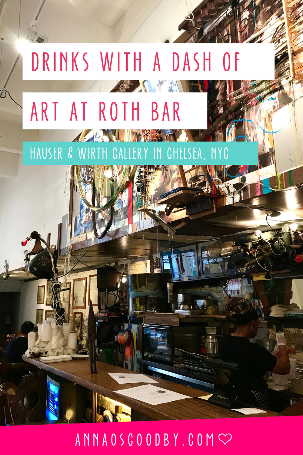 Anna Osgoodby Life + Design Lifestyle Blog :: Drinks with a Dash of Art at Roth Bar in Chelsea, NYC