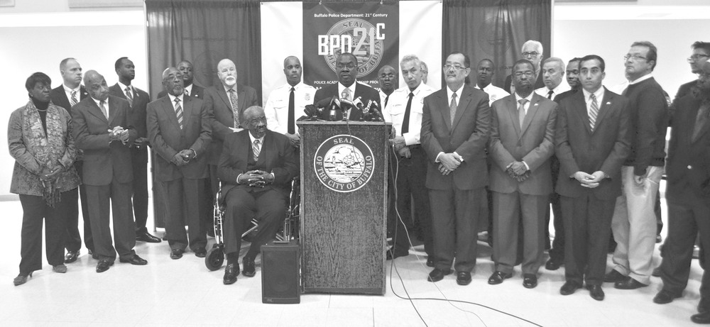 Mayor Brown and Police Commissioner Derenda unveiled 'Buffalo Police Department:  21st Century' (BPD21) during a press conference at Mt. Olive Baptist Church.