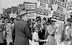 Citizens demonstrate killing of 15-year-old Leon Mosley by police in 1948.