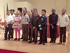 Aloma Johnson Charter School Honor students stand tall! Notice how many young men are included!
