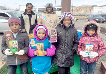 Girl Scouts from theMt. Moriah Girl Scout Troop (Daisy 31824) were working hard one chilly Saturday afternoon recently near the corner of Jefferson and E Ferry selling their delicious Girl Scout Cookies! When you buy Girl Scout Cookies, you help fund new adventures and life-changing opportunities for girls—from trips to community projects, summer camp, and charitable donations. The more cookies you buy, the more you help today's girls develop into tomorrow's leaders! Varieties include Thin Mints, Shortbread, Peanut Butter Sandwich and more!  Pictured (l-r) is Shyann Martin Gamblin, Khylie Robinson, Kamya Martin Gamblin, K-Lynn Calder and (rear) Aniyiah Harris and CamilleChamblessl. The troop meet every Tuesday at Mt. Moriah Church, 400 Northampton from 5:30 to 7:30. All are welcome!