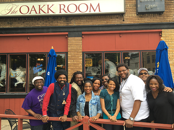 WUFO Operations Manager Shelia Brown and some of he team outside of The Oakk Room