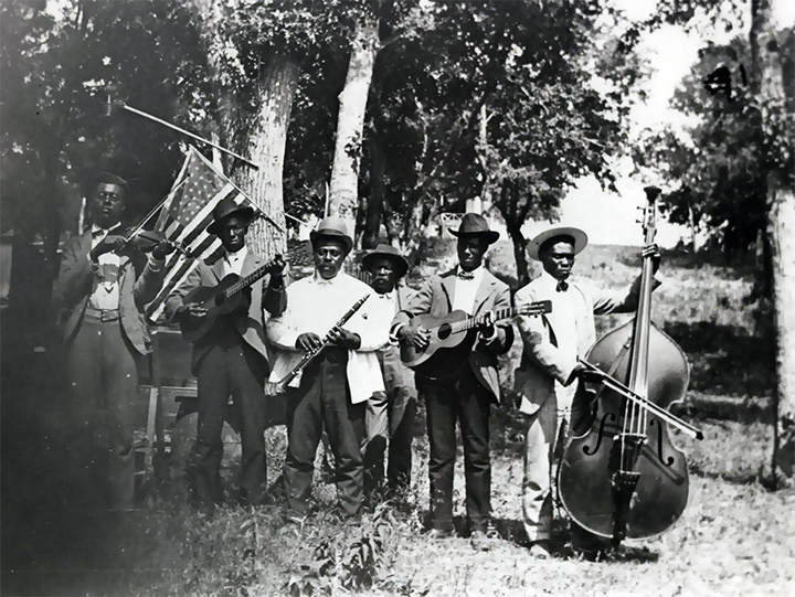 Free'd Musicians Playing At Juneteenth Celebration in Austin 1900