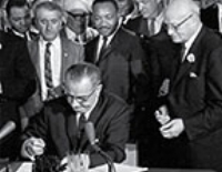 VOTING RIGHTS ACT: SIGNED INTO LAW ON AUGUST 6, 1965