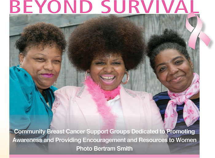 Pictured from left Cancer Survivors, Cherries Walker-Betts Founder of Our Curls Inc.; Gina Davis , founder of Jes Breathe c.A.G..and Tamyara Brown, Chairperson Board of Directors Our Curls Inc. These three brave women, after winning the battle against breast cancer, went on to start their own support groups dedicated to promoting awareness and providing encouragement and resources to women during the breast cancer survivorship process; taking their survival one step further by reaching back to share knowledge, resources and blessings, with others.