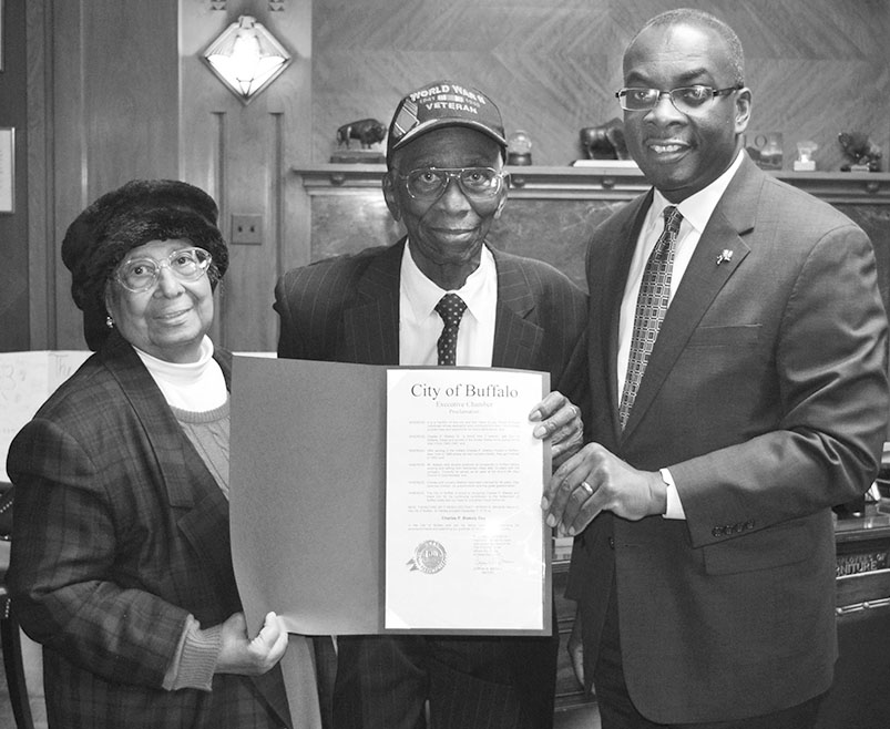 Mayor Brown and Mr. and Mrs. Blakely