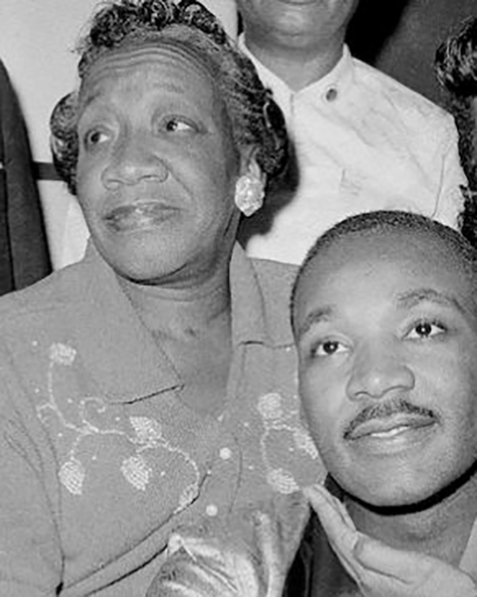 Martin Luther King and his mother Alberta Williams King