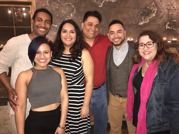 Pictured: Cast: Melinda Carpeles-Rowe , Greg Howze, Rosa Fernandez, Rolando Martin Gomez,  Anthony Alcocer, and  Director Victoria Perez