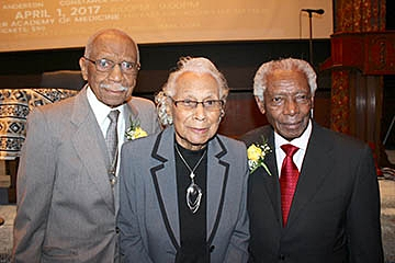 """Legendary Treasures"" L/R Dr. David Anderson, Constance Mitchell and Dr. Walter Cooper"
