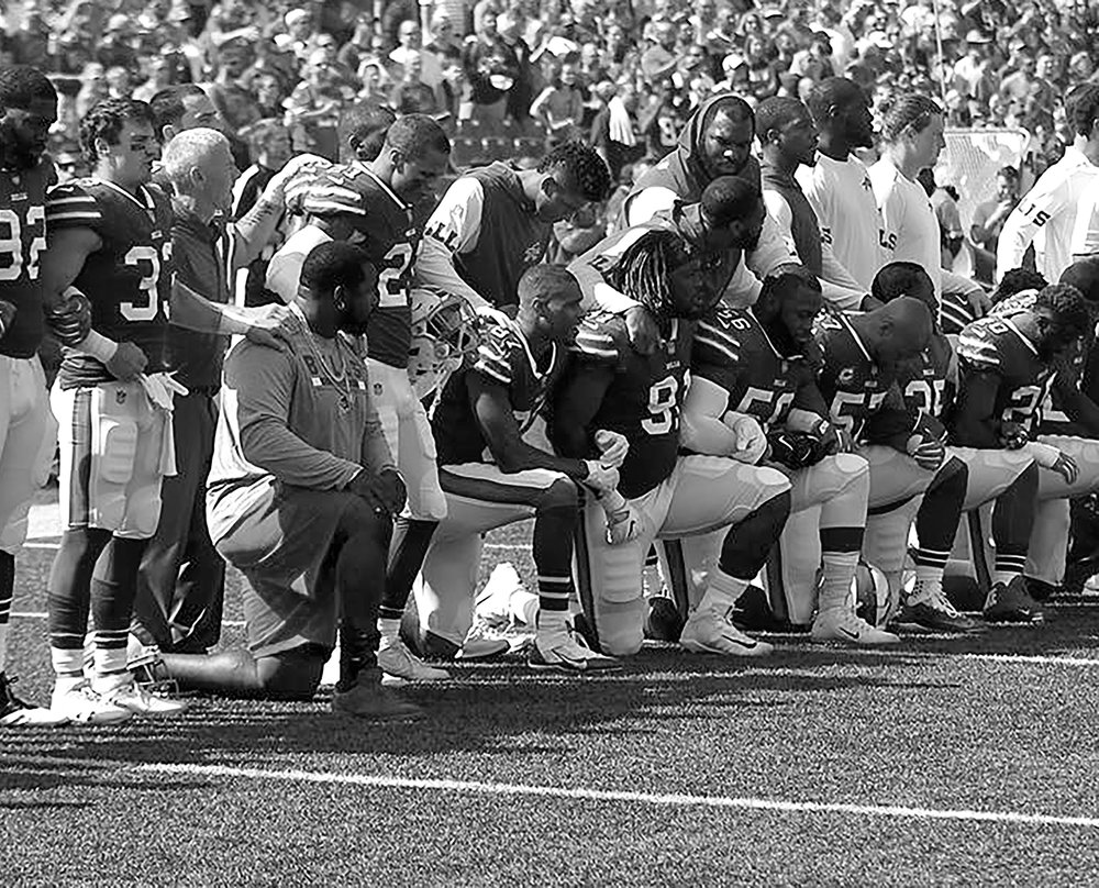 Bills Taking A Knee Photo: Jerome Davis