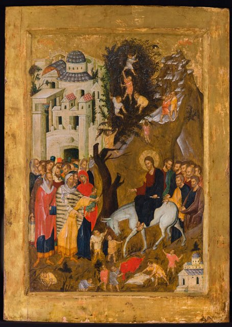 This Sunday was Palm Sunday, the special day in the church calendar that marks Jesus' Triumphal Entry into Jerusalem. In the calendar, it serves as the first day of Holy Week. Take a moment to reflect on this icon of the Triumphal Entry.
