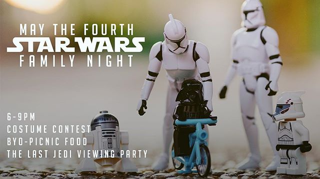 If you don't already have Star Wars-related plans for this Friday, join us at @ecclesia_houston for our family event! Link to RSVP in bio! #starwars #maythefourth #maytheforcebewithyou #lastjedi #darthvader #darthmaul #obiwankenobi #r2d2 #c3po #lukeskywalker #quigonjinn #sithlord #yoda #macewindu #jarjarbinksisthebestcharacter #almostNoneOfTheseCharactersAreInTheLastJedi #theseAreNotTheDroidsYouAreLookingFor #butThisCouldBeThePartyYouAreLookingFor