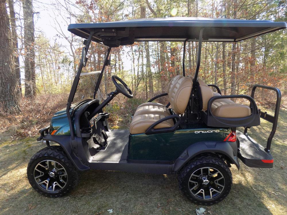 New 2018 Electric Metallic Jade Green Lifted 4-Penger Onward ... Club Car Golf Cart Prochere on