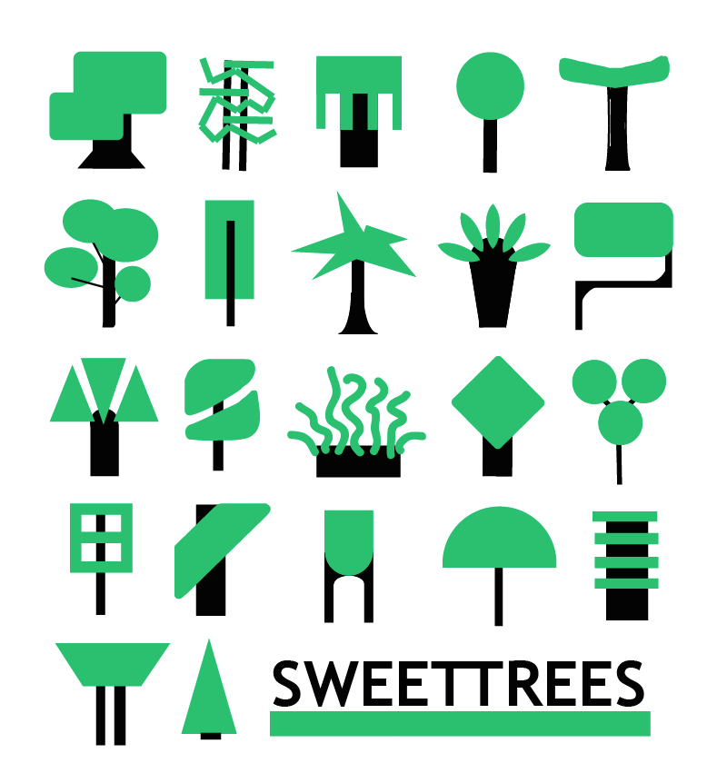 2. Lil trees design for a tee
