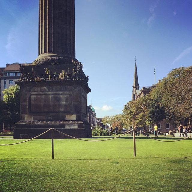 Enjoying the sun in Edinburgh. No guarantees we'll have too many more days like this before the year is out. #thisisedinburgh