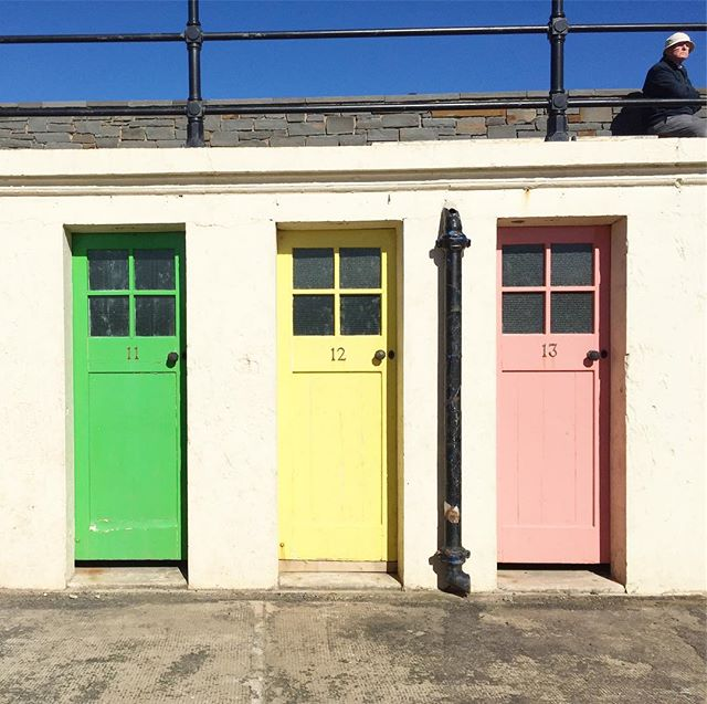These pastel doors in North Berwick are perfect colors for today. Happy Easter!