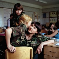 Anya Romanova (centre) and her Year 8 friends at Ataman Platov Cossack Cadet School. This image was featured in the Taylor Wessing Photo Prize 2010.