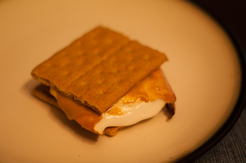 The ISO was through the roof, but it meant that I didn't need to use flash for this fire-lit smore