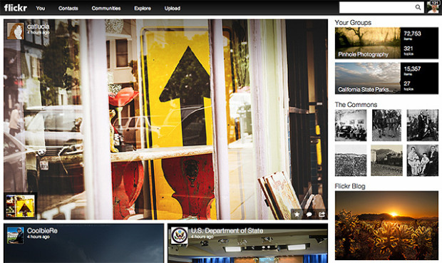 Flickr front page
