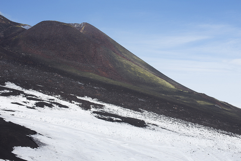 Landscapes often benefit from small apertures. In this case, ƒ/11 was used to photograph Mount Etna
