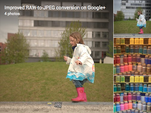 From a to b; Raw to JPEG; in Google+