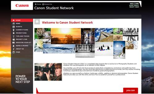 Canon Student Network