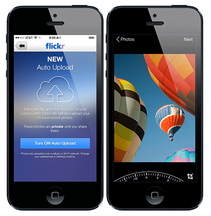 Flickr's new toys: auto-upload and auto-straighten