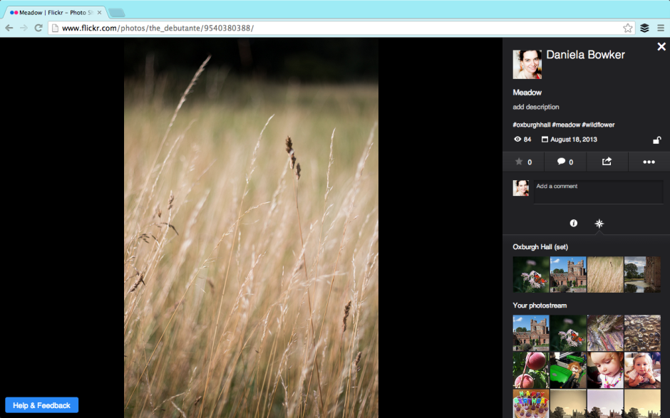 Flickr's photo page beta