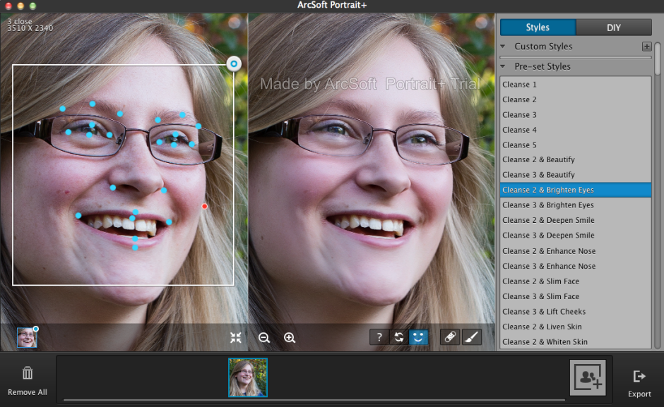 Adjust the key points of facial features to ensure it makes accurate edits