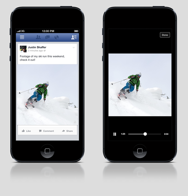 Facebook's trialling auto-playing videos with some of its users