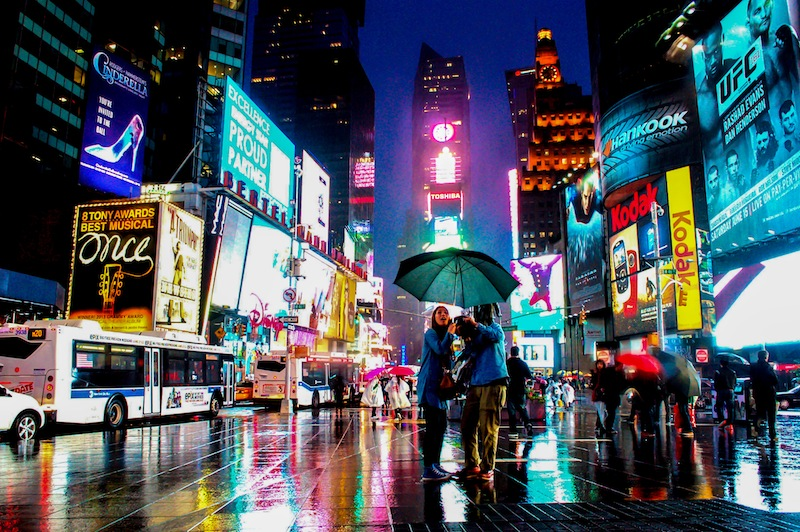 Lynda Cosgrave: Times Square in Blue (City)