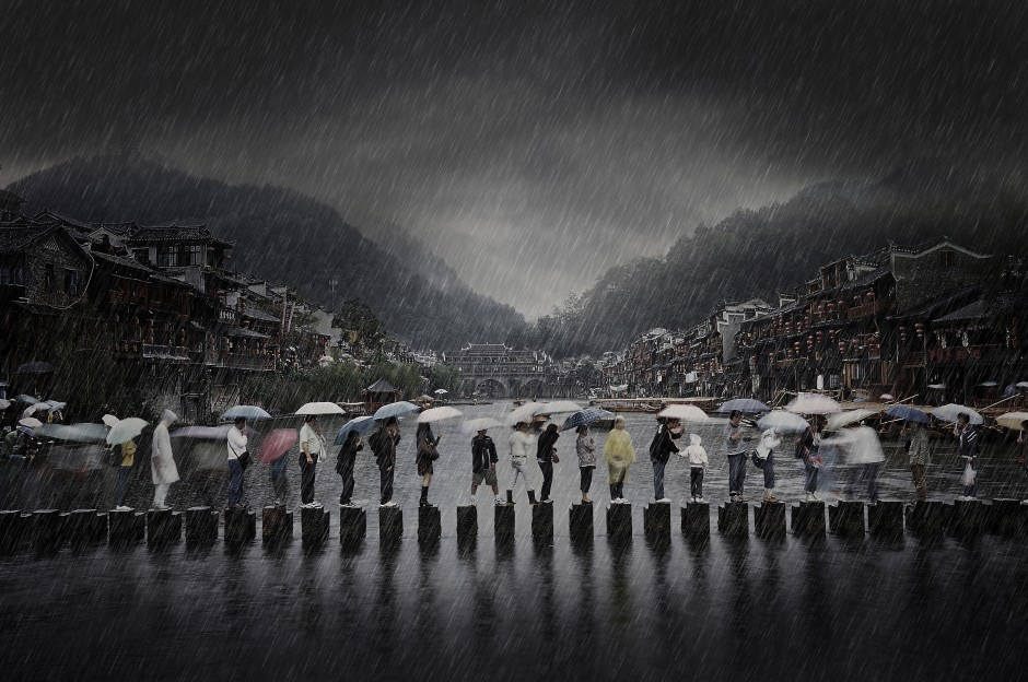 'Rain in an ancient town', © Chen Li , China Winner, Open Travel, 2014 Sony World Photography Awards