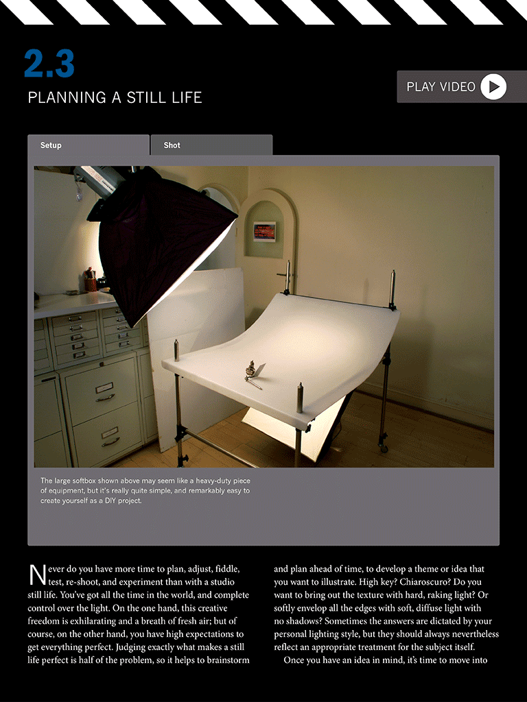 A closer look at setting up a still life shot