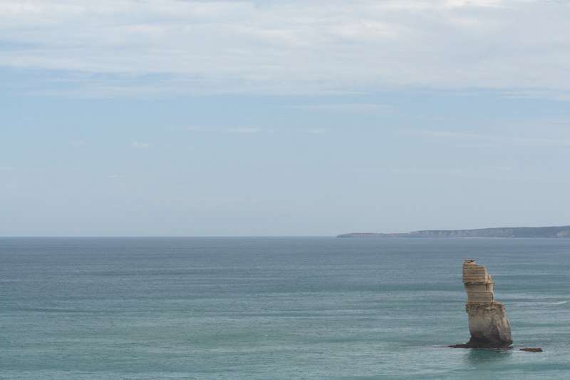 My original photo of a lonely Apostle off of the Victorian coast. It's been adjusted for crop and white balance.