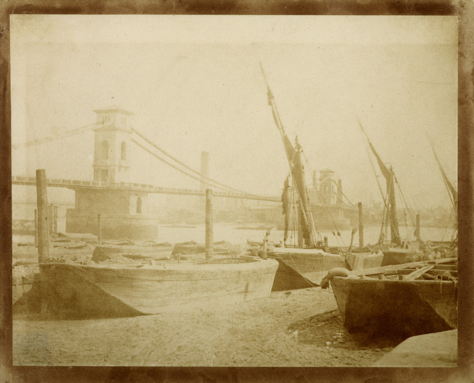 William Henry Fox Talbot (1800-1877) Hungerford Bridge Salt print, made around 1845