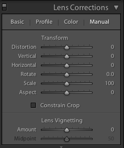 Correct unwanted vignettes in the Lens Corrections panel (or use it to add easy vignettes to uncropped images)
