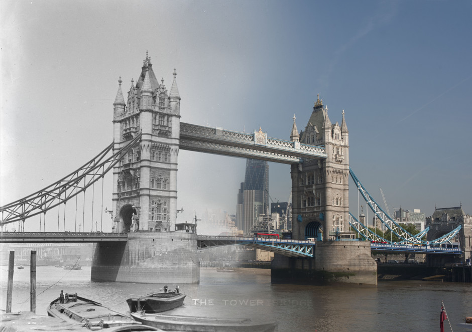 Tower Bridge c. 1903–10, by Christina Broom