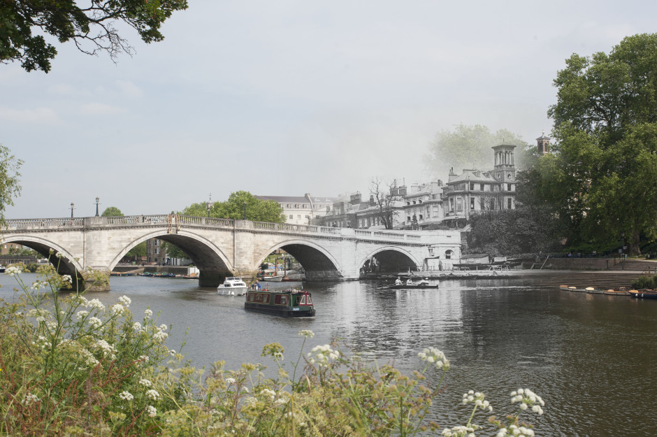 Richmond Bridge late 19th century, photographer unknown