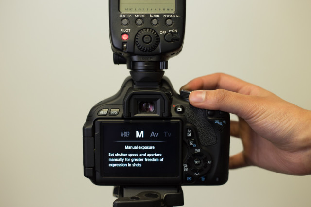 Select manual mode for your camera