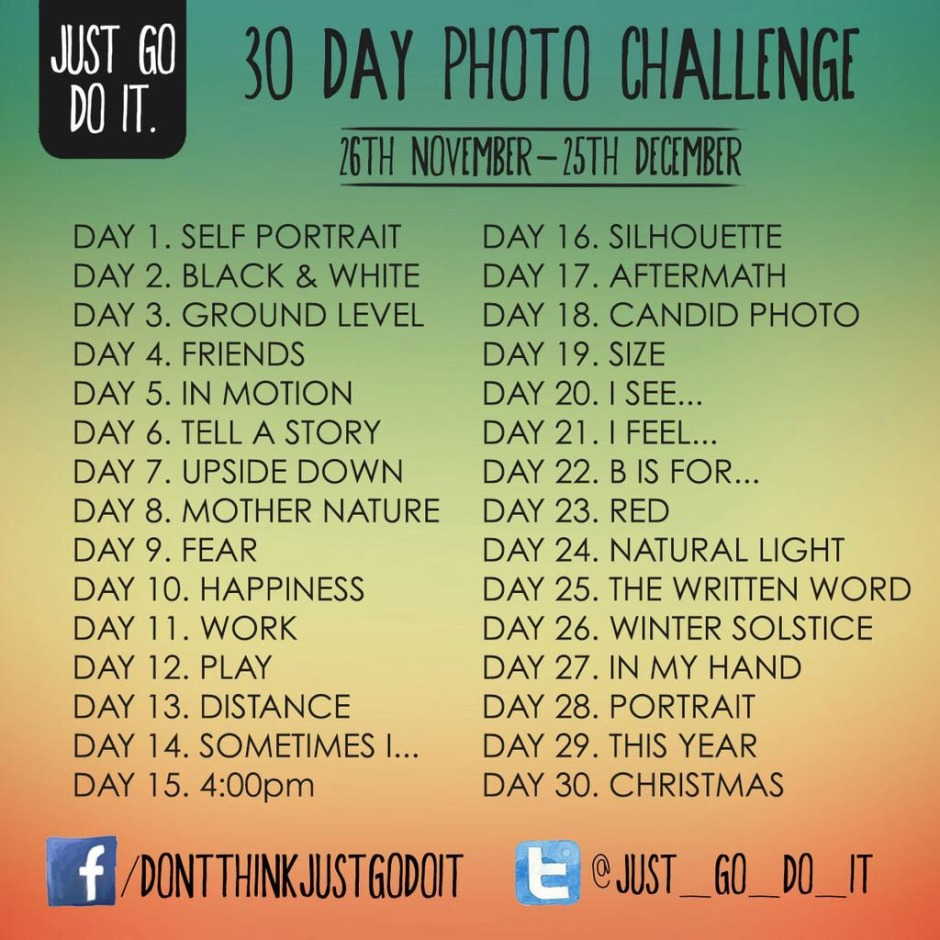 30 days, 30 photos. Sounds easy - and it is. Just don't give up!