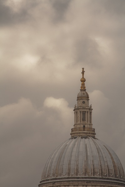 Cloud over St Paul's Cathedral