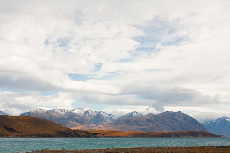 The gorgeous lighting adds a wonderful sense of depth to the view across Lake Tekapo