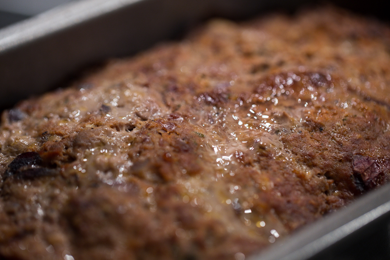 Making meatloaf look tasty required some good lighting. (If you want the recipe, it's here!)