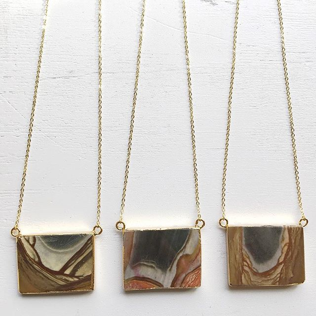 Mama's been in the studio creating! These stunning Succor Creek Jasper beauties will be available tomorrow at a private trunk show in Chico. DM for address 😘😘 have a beautiful weekend and don't forget to smile. #billyskyjewelry #chicoca