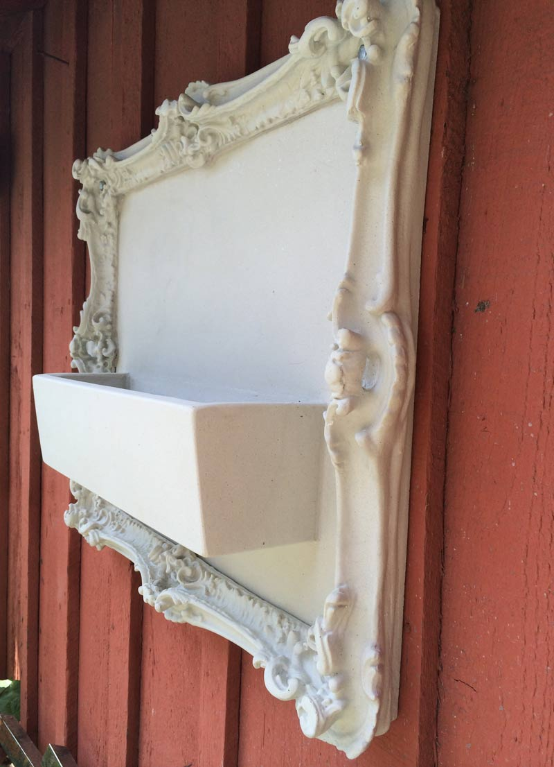 white uhpc concrete frame