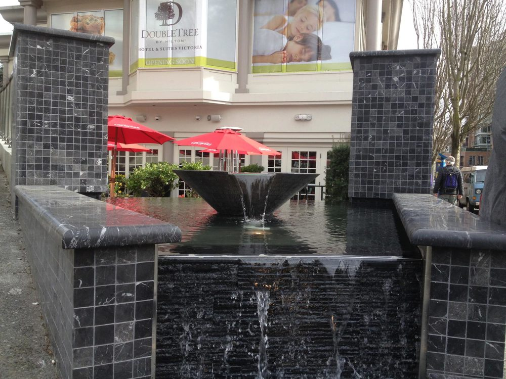 """ductal concrete 32"""" bowl for water feature"""