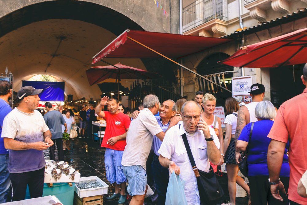 Mornings in Catania's famous Fish Market - La Pescheria