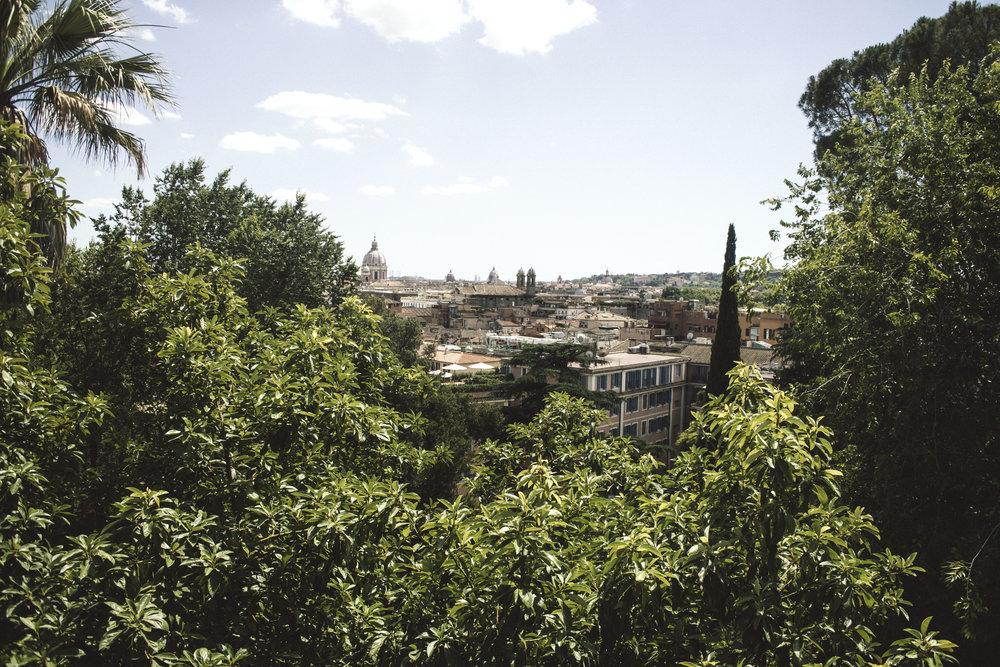 A scenic view of Rome from Terrazza del Pincio