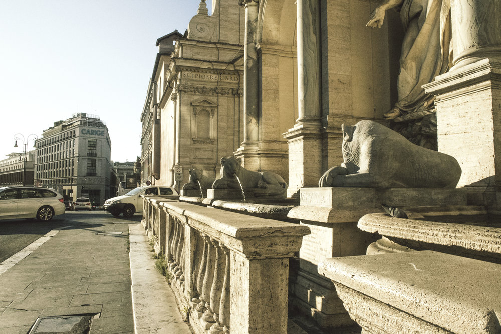 Golden hour in Rome, Italy