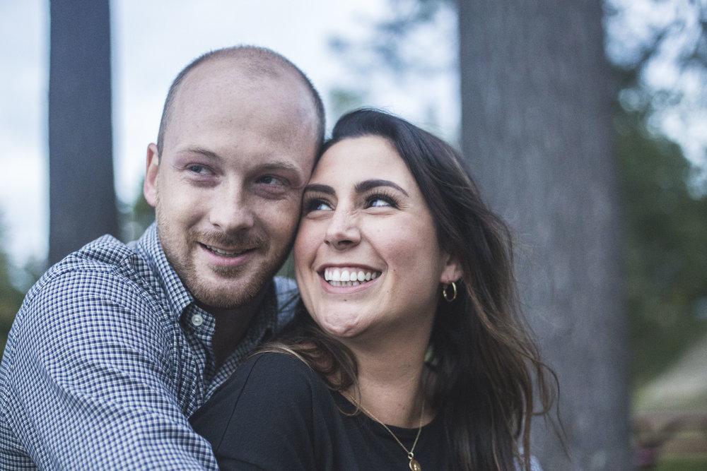 Amanda and Alex Engagement Session in Lyman, Maine